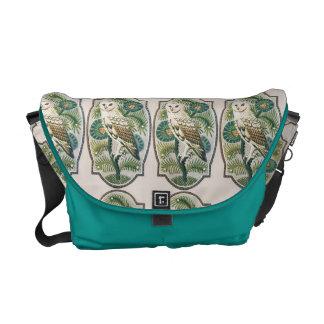Gorgeous Art Nouveau Owl Messenger Tote Messenger Bags