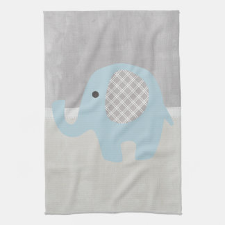 Gorgeous Baby Elephant in Blue Towel