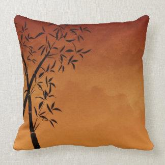 Gorgeous Bamboo and mountain view Throw Pillow