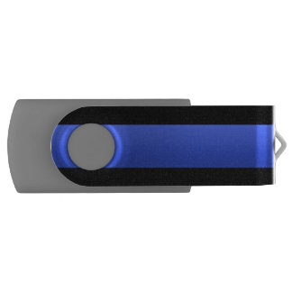 Gorgeous Beautiful Most Popular Thin Blue Line Swivel USB 2.0 Flash Drive