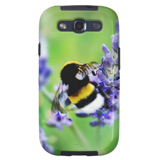 Gorgeous Bee on Purple Flower Galaxy S3 Cover