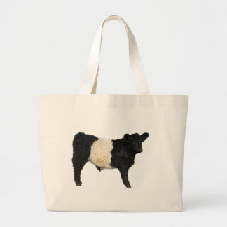 Gorgeous Belted Galloway Steer Cutout Jumbo Tote Bag