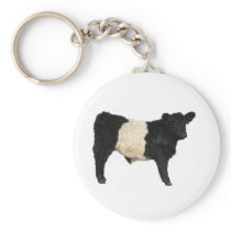 Gorgeous Belted Galloway Steer Cutout Keychain