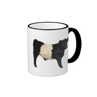 Gorgeous Belted Galloway Steer Cutout Ringer Coffee Mug