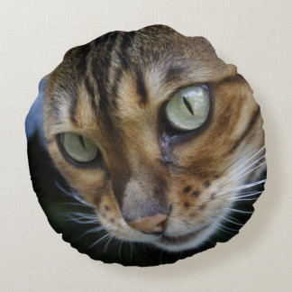 Gorgeous Bengal Cat Round Pillow