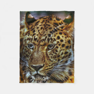 Gorgeous Big Cat Leopard Fleece Blanket