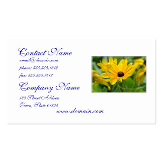 Gorgeous Black Eyed Susan Business Card Templates