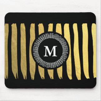 Gorgeous Black Gold Mousepadf for Your office Mouse Pad
