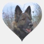 Gorgeous Black-saddled German Shepherd Heart Sticker