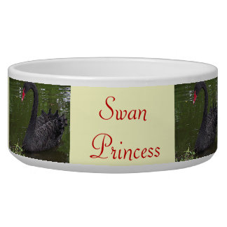 Gorgeous Black Swan on Water Pet Food Bowls