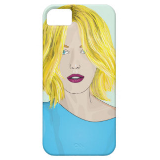 Gorgeous Blonde Woman Illustration iPhone SE/5/5s Case