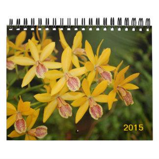 Gorgeous blooming summer flowers 2015 wall calendar