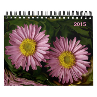 Gorgeous blooming summer flowers 2015 calendar