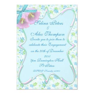 Gorgeous Blue Engagement Invitation