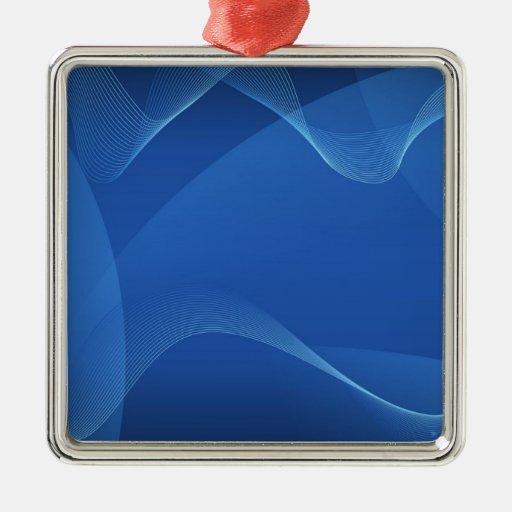 Gorgeous Blue Fractal Ornament