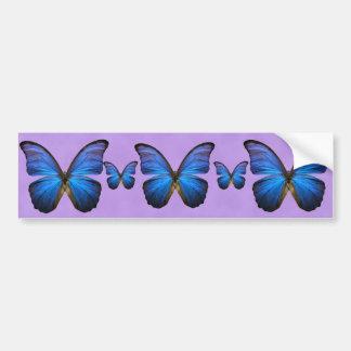 Gorgeous Blue Morpho Butterfly Car Bumper Sticker