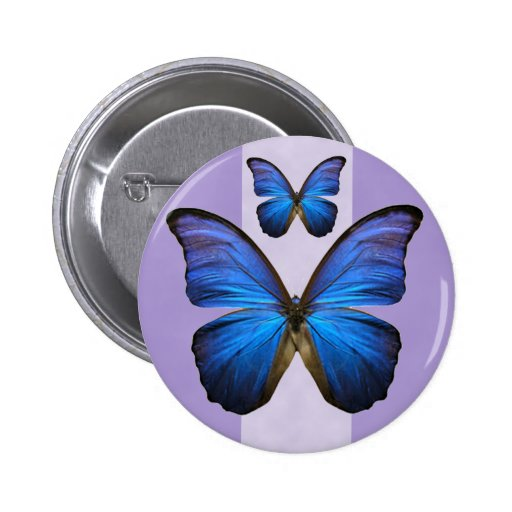 Gorgeous Blue Morpho Butterfly Buttons