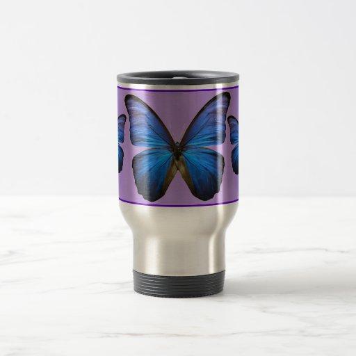 Gorgeous Blue Morpho Butterfly Mugs