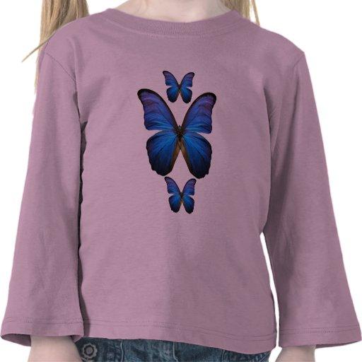Gorgeous Blue Morpho Butterfly Tee Shirt