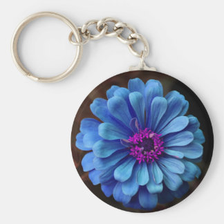 Gorgeous Blue & Violet Flower Keychain