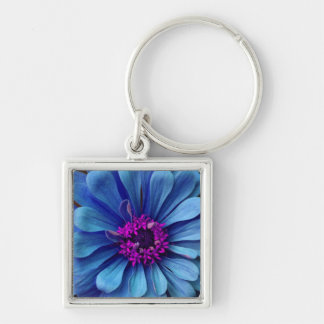 Gorgeous Blue & Violet Flower Key Chains