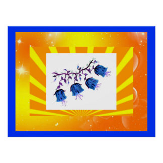 GORGEOUS BLUEBELLS COLLAGE POSTER