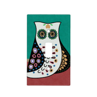 Gorgeous Bohemian Hippy Owl Light Switch Cover