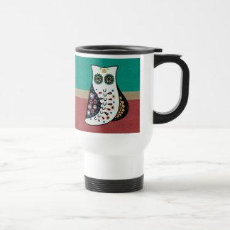 Gorgeous Bohemian Hippy Owl Travel Mug