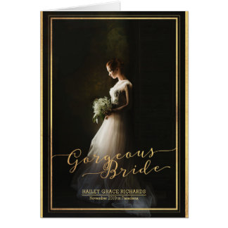 Gorgeous Bride Elegant Typography Photo Template