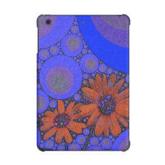 Gorgeous Bright Blue Orange Sunflowers iPad Mini Cover