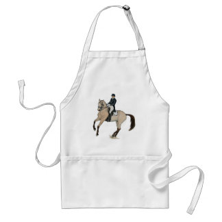 Gorgeous Buckskin Dressage Horse Art Adult Apron
