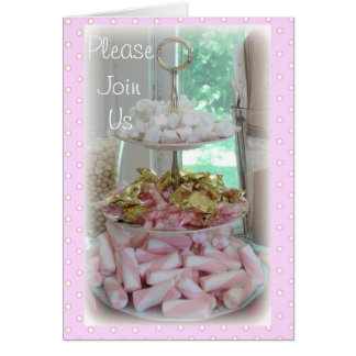 Gorgeous Candy and Polka Dots Invitations