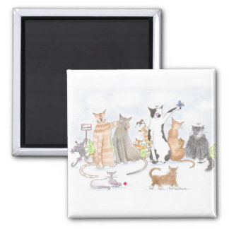 Gorgeous cats fridge magnet