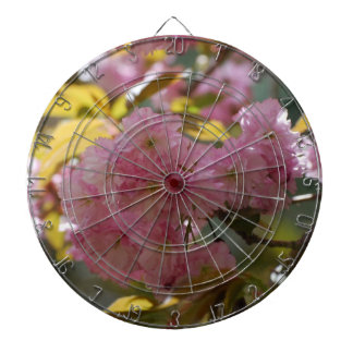 Gorgeous Cherry Blossoms Dartboard With Darts