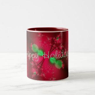 Gorgeous Cherry Red Fractal Mug