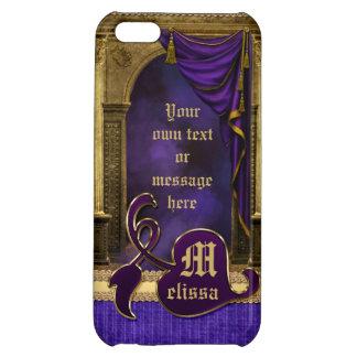 Gorgeous Classic Arch Columns Violet Drapes Gold iPhone 5C Covers