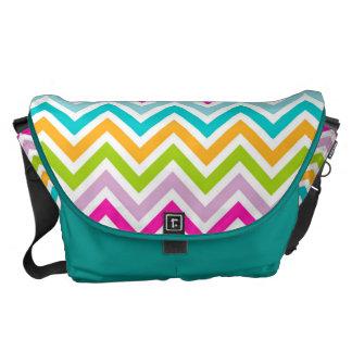 Gorgeous Colorful Chevron Courier Bag