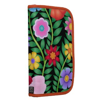 Gorgeous Colorful Mod Flowers Spring Garden rickshaw_folio