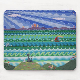 """Gorgeous colourful """"Cat's Eye View"""" mouse pad"""