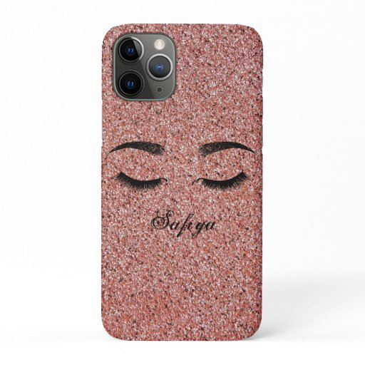 Gorgeous Cool Pink Faux Lashes iPhone 11 Pro Case