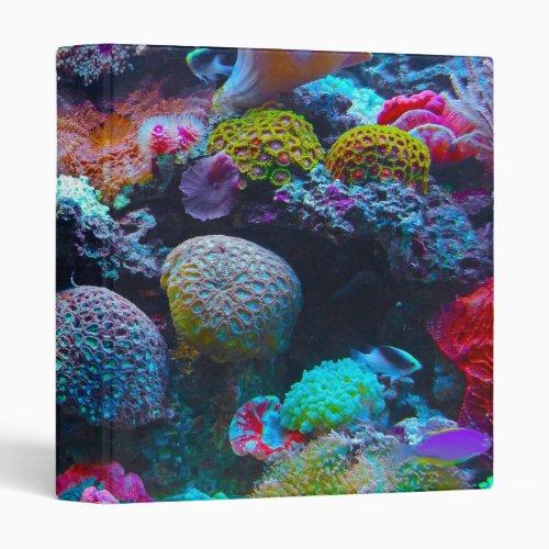 Gorgeous Coral Reef 3 Ring Binder
