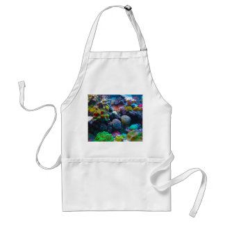 Gorgeous Coral Reef Adult Apron