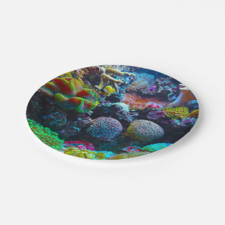 Gorgeous Coral Reef 7 Inch Paper Plate