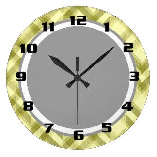 Gorgeous Country Chic Tartan Patten Large Clock