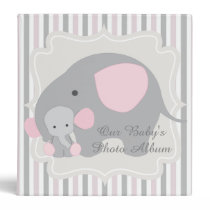 Gorgeous Custom Baby Pink Elephant Photo album Binder