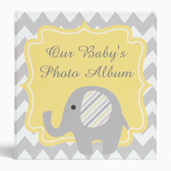 Gorgeous Custom Baby Shower Neutral Elephant Binder Zazzle Com