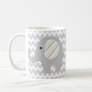 Gorgeous Custom Baby Shower Neutral Elephant Coffee Mug