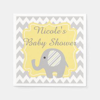 Gorgeous Custom Baby Shower Neutral Elephant Paper Napkin
