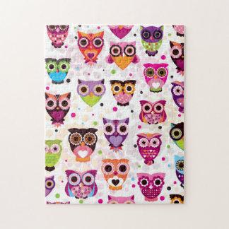 Gorgeous Custom Owl Jigsaw Puzzle