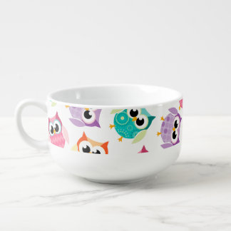 Gorgeous Custom Owl Soup Mug